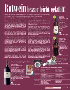 Weinjournal Nr. 31 Serviertemperatur