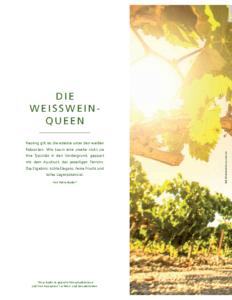 Weinjournal Nr. 71 Weisswein-Queen